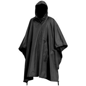 MILITARY PONCHO waterproof windproof black SAS bivi basha shelter hooded jacket