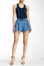 NWT JESSICA SIMPSON IZZY ON GOING Shorts Leeds Dark Wash SMALL 4 6