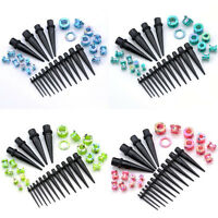 32Pcs Acrylic Stretcher Screwed Ear Taper Tunnels Plugs Stretching Kit Set Gauge