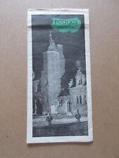 BRUGES BELGIUM vintage 1954 brochure map travel guide