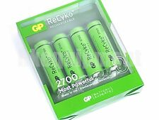 GP Recyko+ AA 2700 Rechargeable PreCharged LSD NiMH 1.2v Battery x4+CASE