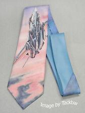 Ralph Marlin Mens Tie 128 -1989 Top Flights F-14 Tom Cat Poly - 56 x 3.25