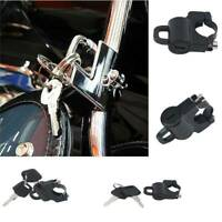 Black Motorcycle Helmet Lock Key Set Universal Anti-theft Security Tube Lock S