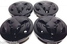 4 Pcs Ram Head, Center Cap, Black, 63 MM, Caravan, Dakota, Durango, Ram, Stratus