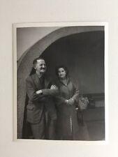 Vintage BW Real Photograph #AF : Couple: Concrete Shelter