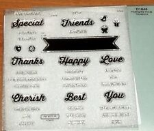 CTMH D1646 FINDING THE WORDS ~ Special, Friends, Cherish, Happ[y, Love, Thanks
