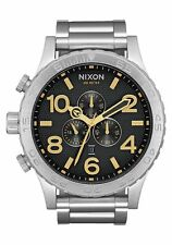 **BRAND NEW** NIXON WATCH THE 51-30 CHRONO STAMPED GOLD A0832730 NEW IN BOX!