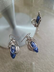Russian Silver Earrings And Ring Set