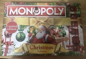 MONOPOLY CHRISTMAS EDITION BOARD GAME