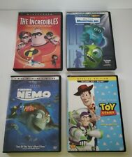 Lot of 4 Disney Pixar DVDs Toy Story Incredibles Finding Nemo Monster Inc.