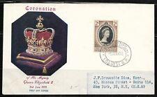 UK  Bechuanaland  Old FDC Cover Elizabeth II Coronation 1953