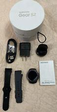 Used- Samsung Gear S2 SM-R730 Smart Watch Dark Gray Bluetooth - Open Network