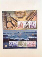 Australia - 99 World Philatelic Exhibition Navigators Mini Sheets