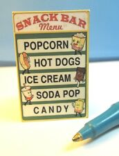 Miniature Snack Bar Sign  S184