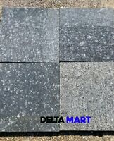Steel Grey Granite Paving slabs 600x300x18mm natural stone contemporary patio
