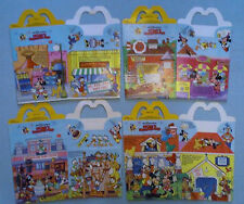 McDonald's 1989 - Mickey's Birthdayland - Lot of 4 Different Happy Meal Boxes
