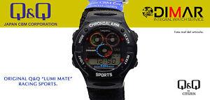 Vintage Watch Q&Q Lumi Matt Racin Sport. 9901, Wr 50m. (DL10 J551)