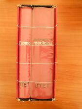773E - OPERA DI N. 2 VOLUMI: L'UOMO, DIZIONARIO DI MEDICINA UTET 1970