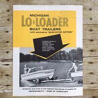 Vintage Dealer Sales Brochure Michigan Lo-Loaders Boat Trailers Boating