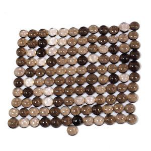 VVS 121 Pcs Natural Smokey Quartz 7mm-8mm Round Top Quality Gemstones Lot