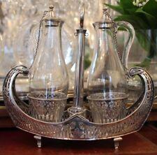 Oil vinegar cruet Sterling silver cruet Oil vinegar set Cruet stopper Cruet set