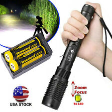 Zoomable 5-Modes 350000Lumens High Power LED Flashlight Torch Battery Charger
