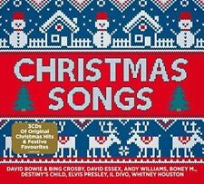 CHRISTMAS SONGS FEAT, BONEY M,; D,BOWIE & B, CROSBY, DIDO, M, BOLTON 3 CD NEW!