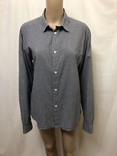 A.P.C. APC POLO SHIRT WOMENS ~ SZ LARGE ~ EXC COND LONG SLEEVES BLOUSE TOP PLAID