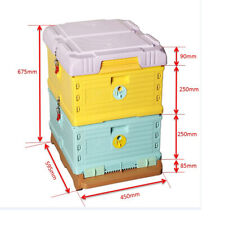 Plastic Insulation 2 Layers Durable Langstroth Beekeeping Hive(without frames)