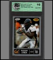 Marshawn Lynch 1/480 SAGE Silver Rookie Card PGI 10