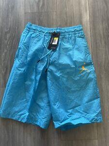 Nike Jordan Cement Poolside Jumpman Blue Shorts Mens Size Small [CI9133-465] NWT