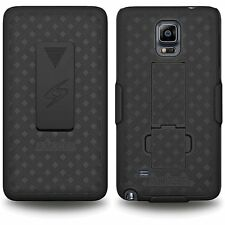 Premium Hard Shell Case Belt Clip Holster Cover Combo for Samsung Galaxy Note 4
