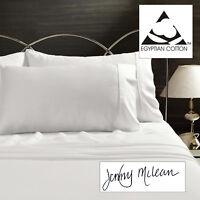 100% Egyptian Cotton Sheet Set 400TC Thread Count Luxury Sateen New JENNY MCLEAN