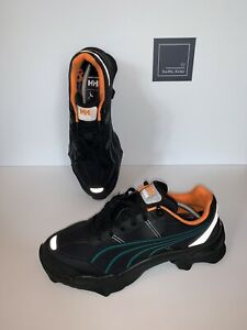 HELLY HANSEN NITEFOX TRAINERS BY PUMA - BLACK / ORANGE - SIZE UK 10 EU 44. - NEW