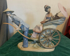 Lladro 1383 A Ride in China with Wooden Base