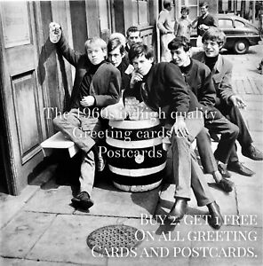 47. Rolling Stones, Chelsea Pub 1963. Quality Sixties Greeting Card. London