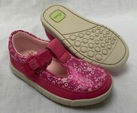 BNIB Clarks Girl Crazy Tale Hot Pink T Bar Leather First Shoes E/F/G/H Fitting