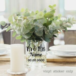 Wedding | Table Decorations | Candle Jar | Personalised Wedding Favours | Labels