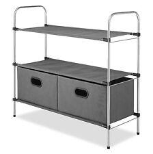 Whitmor Closet Organizer Storage Rack Shelves Collapsible Drawers Clothes Holder