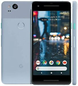 New Google Pixel 2 64GB Factory Unlocked 4G LTE Android WiFi Smartphone - Blue