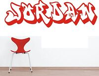 Graffiti Personalised Wall Art Sticker Wall Transfer  Decal ADD YOUR OWN NAME