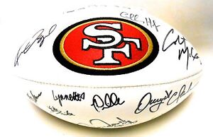 Jerry Rice Dwight Clark Charles Haley Signed Autograph Auto 49ers Football Ball
