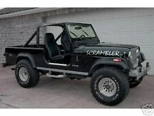 JEEP CJ-8 SCRAMBLER HOOD DECALS SILVER