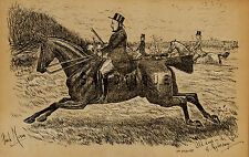 """""""Fores's Sporting Notes & Sketches"""" - """"OLD DAYS ON THE VALE"""" - Litho - 1886"""