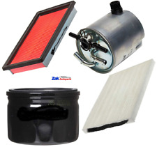 FOR NISSAN QASHQAI 1.5 DCI 07-12 SERVICE KIT OIL AIR FUEL & CABIN FILTERS NEW