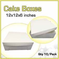 CAKE BOXES 12x12x6 Inches Qty 10/Pack Brand New - Wedding Cake Box - Cupcake Box