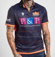 Macron Edinburgh Rugby 2019/2020 Home Shirt Mens Size UK Medium Navy *Ref58