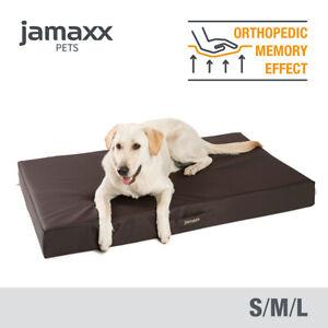 JAMAXX Premium Hunde Matratze Kunstleder - Orthopädisch Memory Visco - Schwarz
