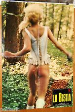 soggettone originale LA BESTIA Walerian Borowczyk Lisbeth Hummel Sirpa Lane 1976