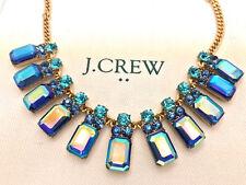 J Crew Mirror Blue Necklace NWT New statement Authen Bride bridesmaid wedding